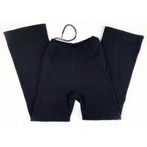 'S Max Mara Black Jersey Knit Drawstring Pants